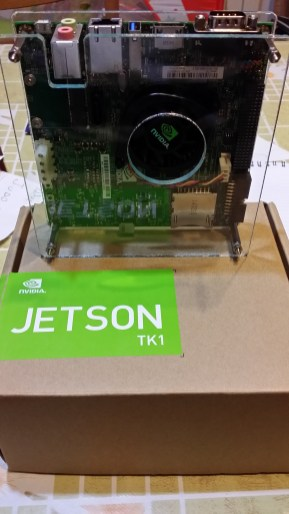 "NVidia Jetson TK1 inside the ""sandwich"""