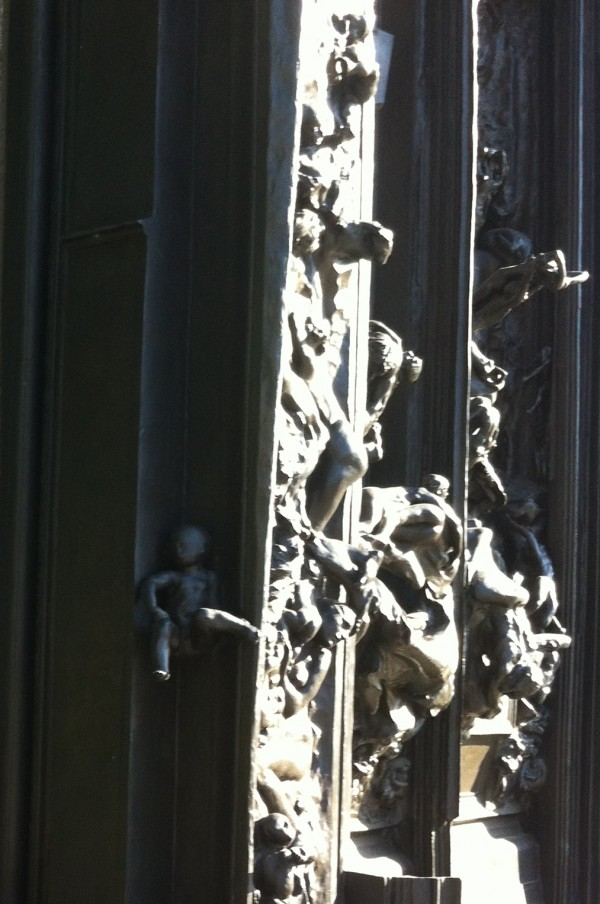 Details of Gates of Hell Auguste Rodin Bronze