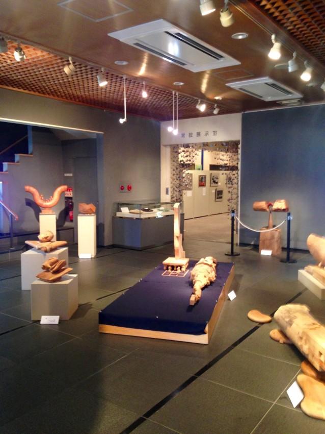 Sculptures bu Shirou Den on 1st Floor