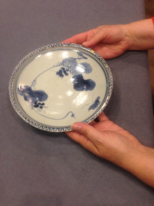 Early Imari plate with gold