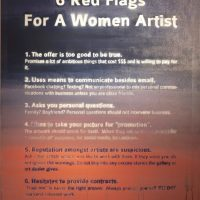 Red Flags for Women Artists