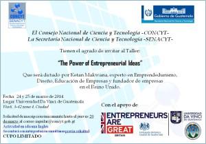 Invitación Taller Emprendedurismo