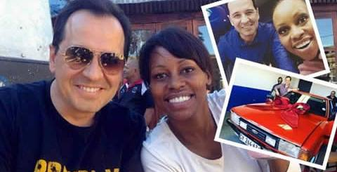 Elana Afrika buys husband Brendenkamp Ian classic car