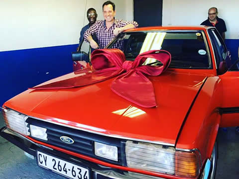 Elana Afrika buys Husband Ian Classic Car
