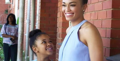 Pearl Thusi and daughter Thandolwethu Mokoena
