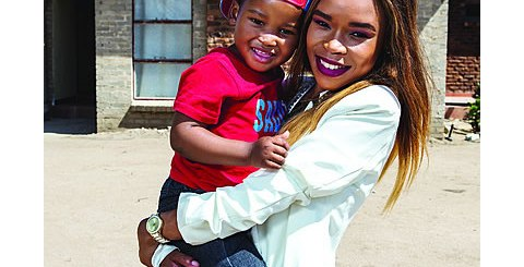FIFI Cooper and her son Resego