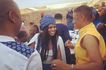 Photos From Isibaya actress Florence Mokgatsi's traditional wedding