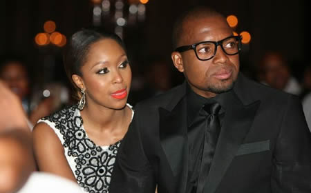 Minnie Dlamini and Itumeleng Khune