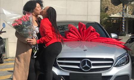 Thando Thabethe buys her Mother Mercedes Benz