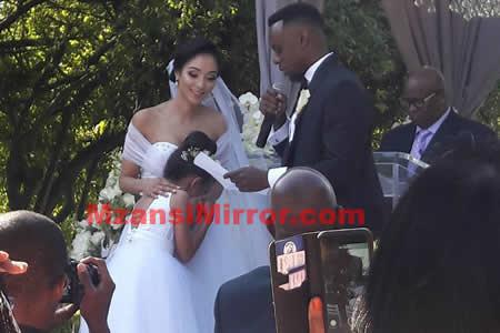 Slikour Siyabonga Metane and wife Melissa Wilkinson wedding