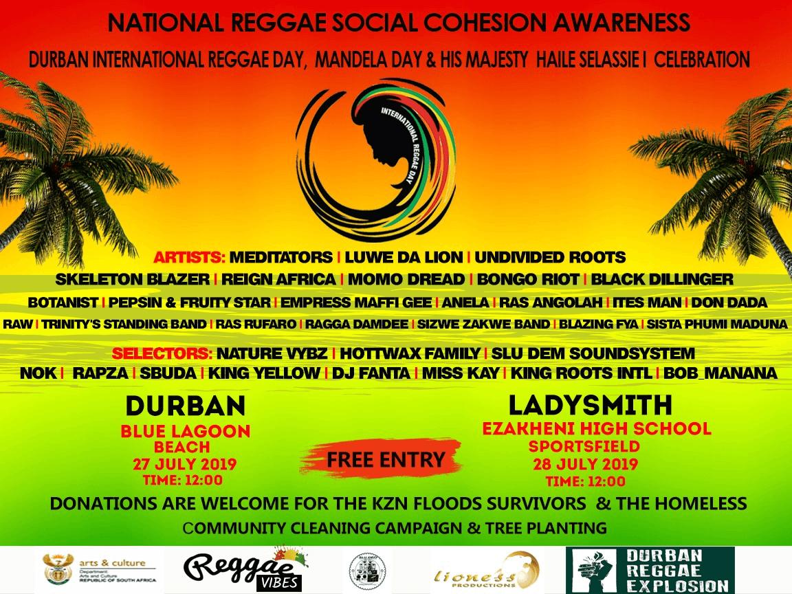 Reggae Day Mandela Day Haile Selassie Day
