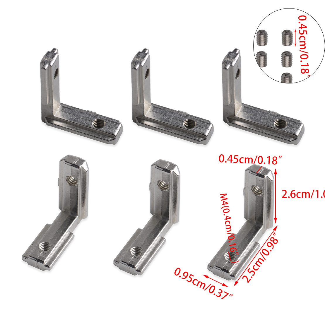 20pc T Slot L Shape Aluminum Corner Connector Joint