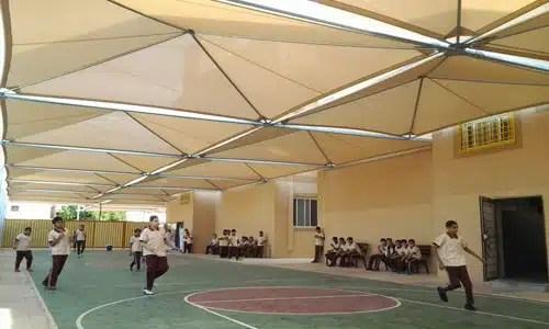 مظلات-المدارس-بولي-ايثيلين