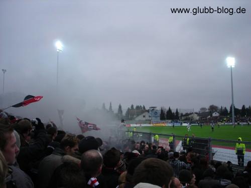 Rauchbombe FCN-Fans Ingolstadt