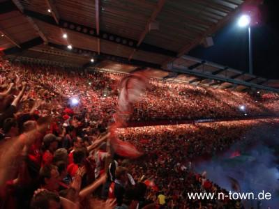 Feier nach Pokalerfolg Nürnberg über Frankfurt
