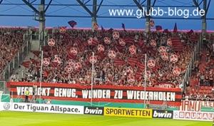 Choreo des FCN in Ingolstadt