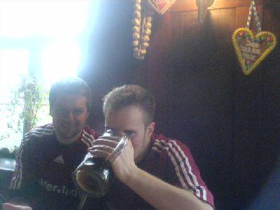 Maik vor Ingolstadt-Spiel