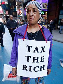 Das Epizentrum des Protests für ein anderes Finanzsystem liegt im Zuccotti-Park in New York.