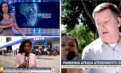 Reportagens ao vivo são invadidas por manifestes politicos em meio a pandemia do corona vírus emissoras de TV preocupadas com ataques a imprensa