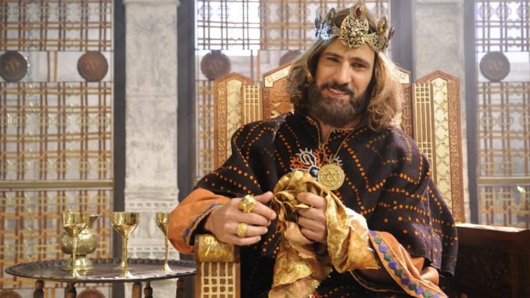 (Leonardo Brício em cena da minissérie 'Rei Davi' / Foto: Record TV/Reprodução)