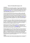 May 2017 Membership Meeting Notes