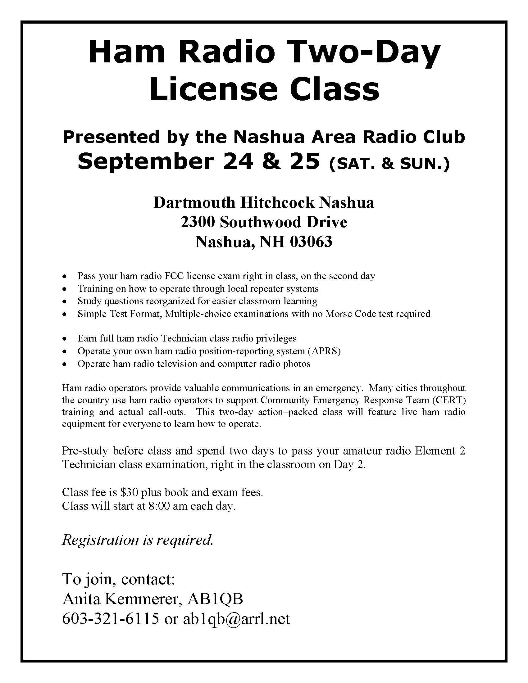 Amateur general class license test