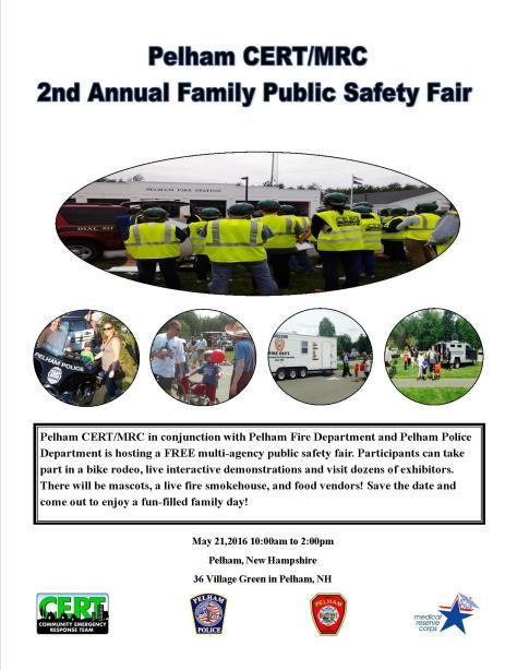 Pelham CERTMRC Safety Fair