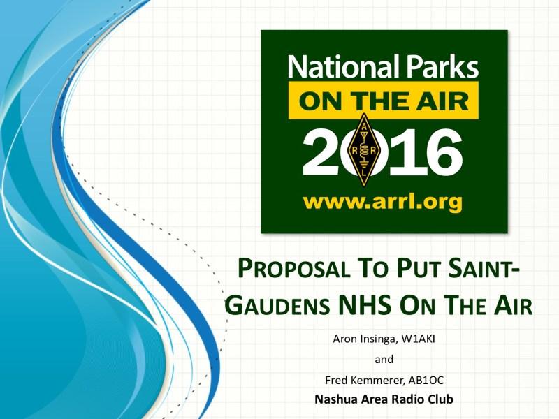 National Park Service Anniversary - N1FD NPOTA Presentation