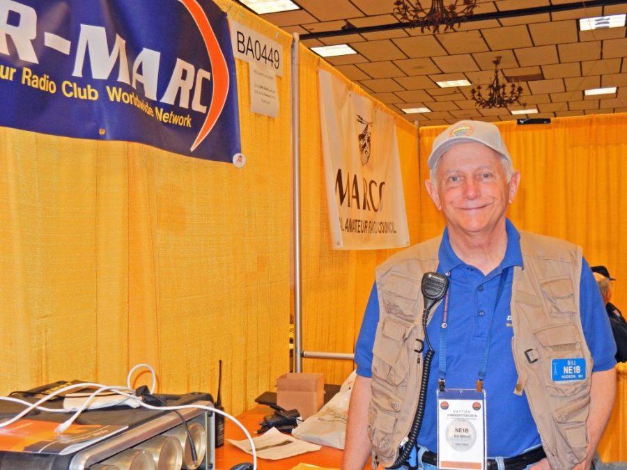 Bill Barber, NE1B at the DMR-MARC Booth