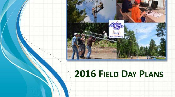 2016 Field Day Planning