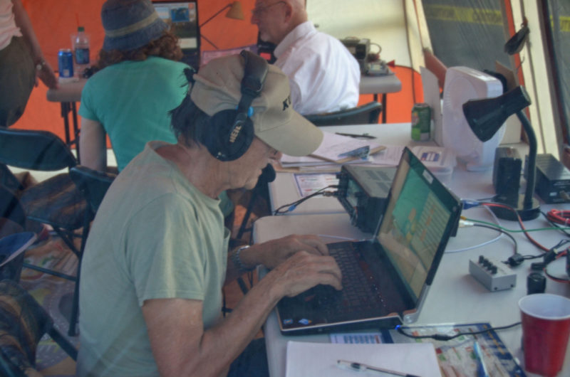 Mike, KU1V On The Air During Field Day 2016