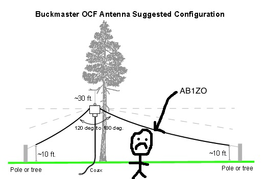 Buckmaster OCF dipole installation picture. Right from their website