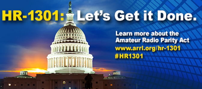 HR-1301 Amateur Radio Parity Act