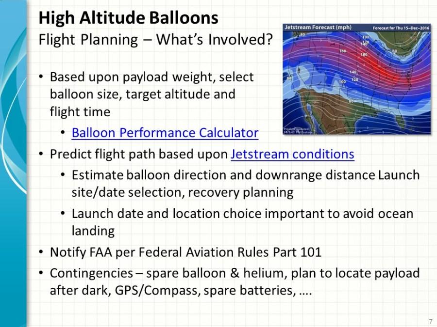 High Altitude Balloon Flight Planning