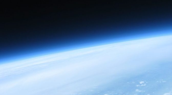 Near Space Image from a High Altitude Balloon