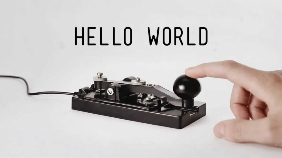 CW Key for Sending Morse Code