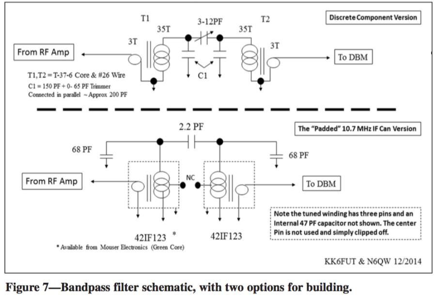 Homebrewed Transceiver Bandpass Filter Schematic