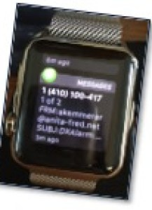 Ham Radio Raspberry Pi Project - Apple Watch Alert
