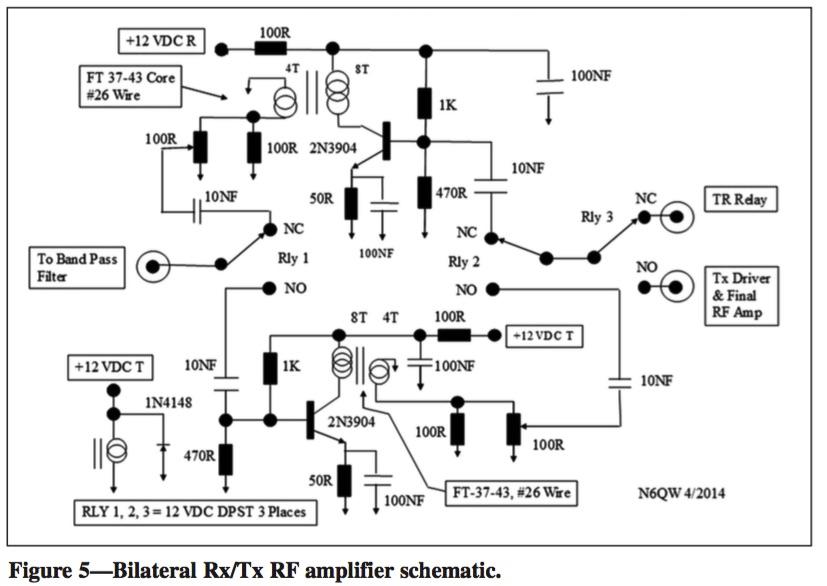Homebrewed Transceiver RF Amplifier Schematic