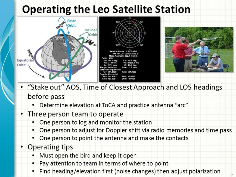 Portable Satellite Station Team Operating Approach