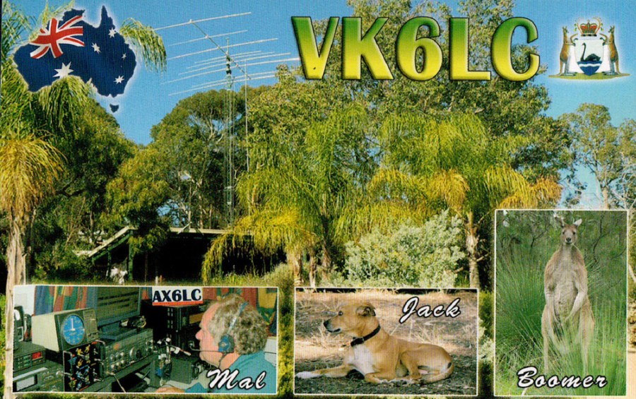 Why Ham Radio - QSL Card from VK6LC in Western Australia