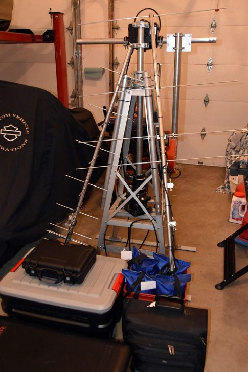 Satellite Station Packed and Ready for Transport