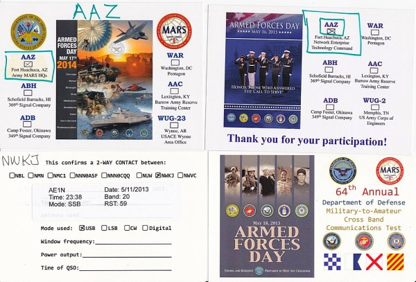 Armed Forces Day QSL Cards