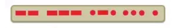 Morse Code interpreter Strip