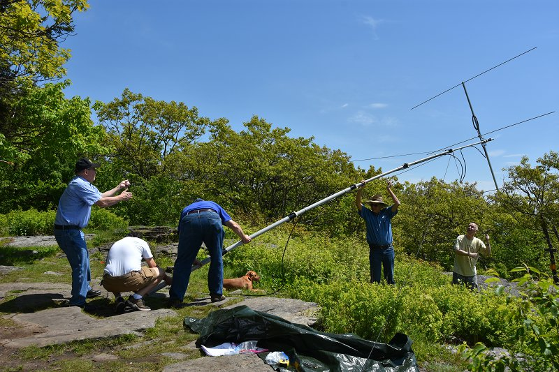 6m SOTA Station Antenna Going Up
