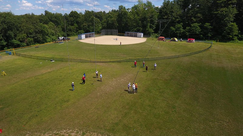 Field Day 2017 Site Setup On The Upper Field
