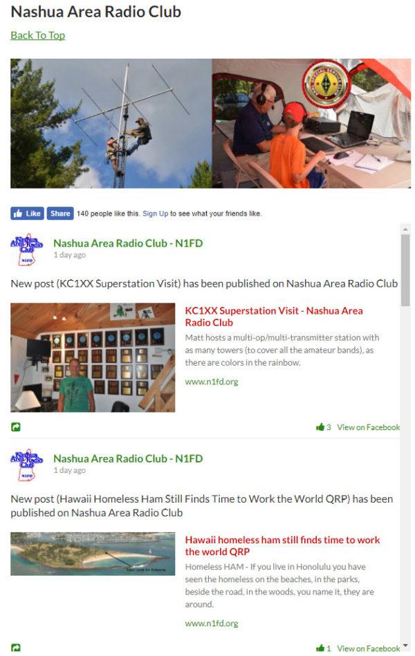 N1FD Social Media - Sample of Our Facebook Feed