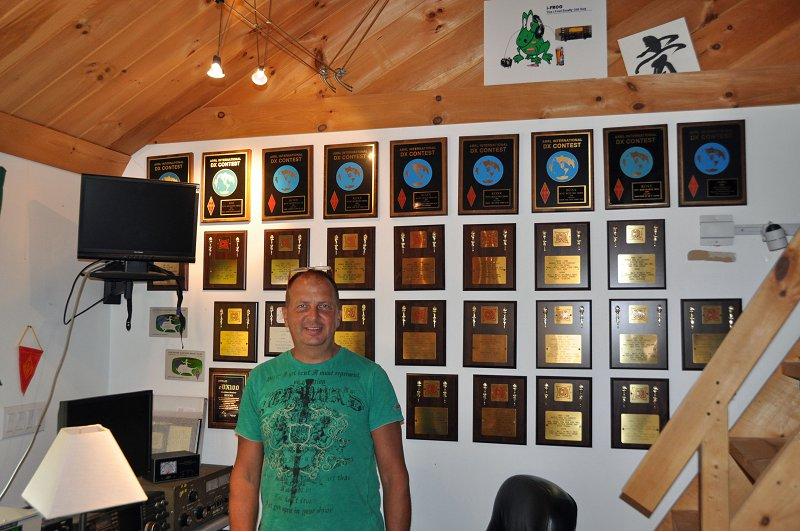 KC1XX Station - Matt and His Many Awards