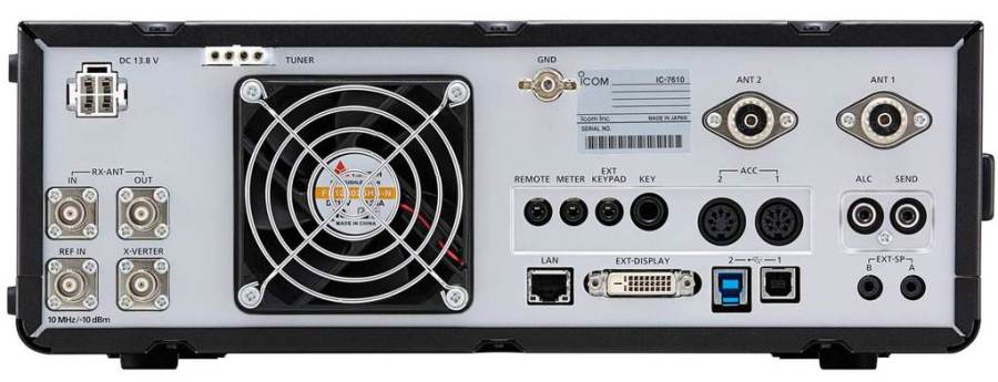 Icom IC-7160 Rear Panel