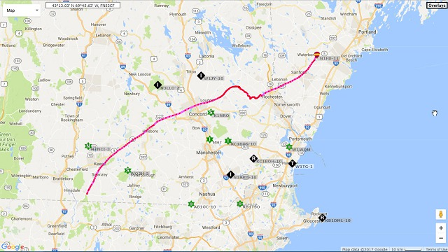 High-Altitude Balloon 2 Actual Flight Path